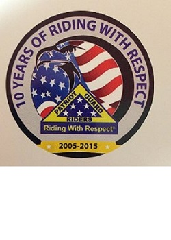 "Patriot Guard Riders 10 Year Anniversary 3.5"" Decal"