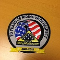 10 Years of Riding with Respect Patch
