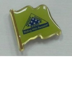 PGR PIn-  PGR Riding With Respect Flag