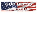 God Bless America Bumper Sticker THUMBNAIL