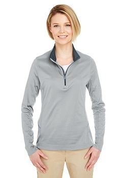 Ladies Cool Dry Long-sleeve Zip T-shirt w/PGR Logo