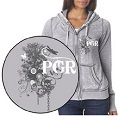 Ladies Long Sleeve Zip Sweatshirt with Hood Mini-Thumbnail