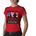 Ladies Short Sleeve Red Friday Shirt