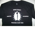 Memorial Tribute NEVER FORGET Short Sleeve Shirt