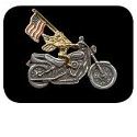 Motorcycle Angel with USA Flag Pin