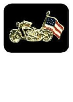 Motorcycle USA Flag Pin MAIN