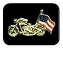 Motorcycle USA Flag Pin