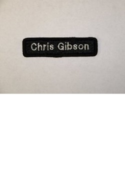 Black Name Patch