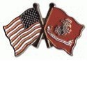 US & Logo Flags Pin Mini-Thumbnail