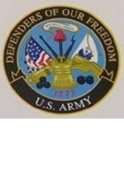 "Military Service 3"" Round Decal MAIN"