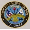 "Military Service 3"" Round Decal THUMBNAIL"