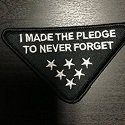 made the pledge to never forget patch_THUMBNAIL