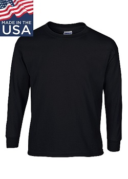 Standard Long Sleeve Tee-shirt w/ Logo, USA Made