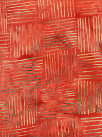 "Hoffman ""Bali Batiks"" # OS2121-569 Crawfish – Cross Hatch Squares THUMBNAIL"
