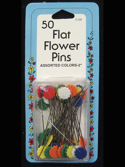 50 Flat Flower Pins MAIN