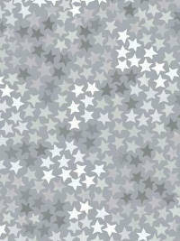 "Windham Fabrics ""Cubby Bear Flannel"" # 52383-2 - Multi Grey Stars on Grey THUMBNAIL"