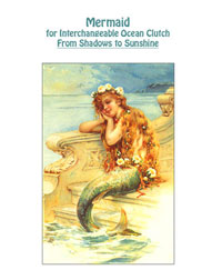"""From Shadows to Sunshine"" Mermaid Photo Transfer on Fabric THUMBNAIL"
