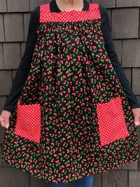 Popover Pinafore Apron — Cherries THUMBNAIL