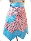 Vintage Apron—Pink and Light Blue SWATCH