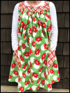 Popover Pinafore Apron — Poinsettias SWATCH