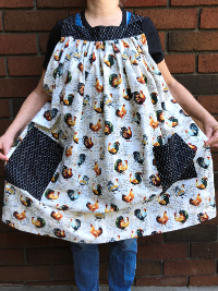 Popover Pinafore Apron — Roosters THUMBNAIL