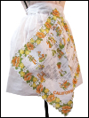 Vintage Apron—White Handkerchief with California Points of Interest SWATCH