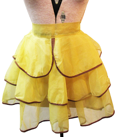 Vintage Apron—Yellow with Brown Trim MAIN