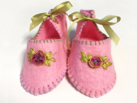 Baby Booties – Pink and Green THUMBNAIL