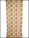 Light Camel Vintage Barkcloth with Peach Roses SWATCH
