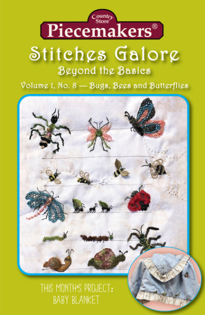 Stitches Galore:  Beyond the Basics—Volume 1, No. 8—Bugs, Bees and Butterflies MAIN