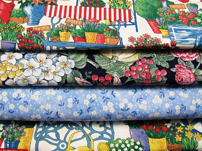 Vintage Fabric Bundle – Blue Multi MAIN