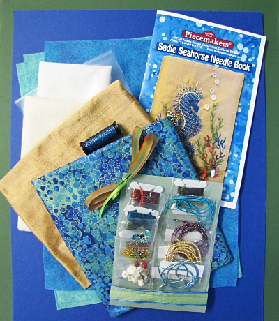 Sadie Seahorse Needle Book Kit – Turquoise MAIN