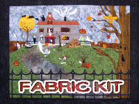 The House of Boo-Whooooo Fabric Kit (with OR without pattern) THUMBNAIL