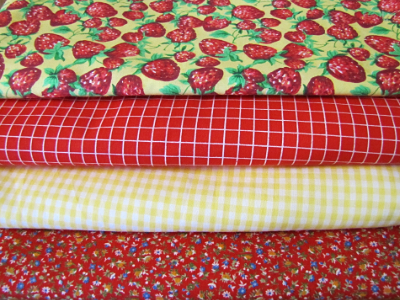 Vintage Fabric Bundle – Red and Yellow MAIN
