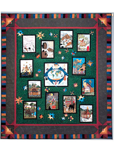 Piecemakers 2004 Times And Seasons Calendar and Quilt Book MAIN
