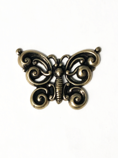 Cast Metal Charm with Antique Bronze Finish – Butterfly MAIN