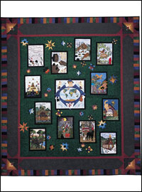 "Piecemakers 2004 Calendar Quilt — ""For God So Loved the World""  *SALE THUMBNAIL"