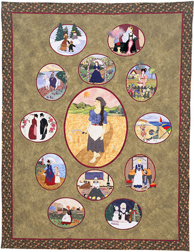 "Piecemakers 2006 Calendar Quilt — ""Song of the Lark""  *SALE MAIN"