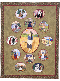 "Piecemakers 2006 Calendar Quilt — ""Song of the Lark""  *SALE THUMBNAIL"