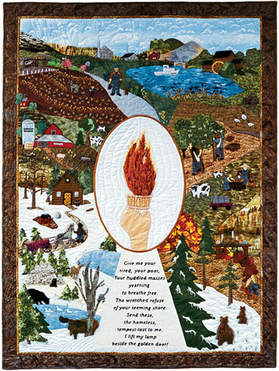 "Piecemakers 2007 Calendar Quilt — ""The Birth of a Nation"" MAIN"