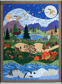 "Piecemakers 2010 Calendar Quilt — ""God's Glory Covers the Earth"" THUMBNAIL"