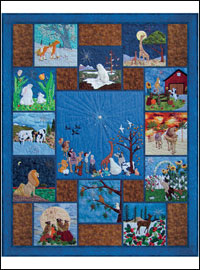 "Piecemakers 2011 Calendar Quilt — ""All Eyes Shall Behold His Glory""  *SALE THUMBNAIL"