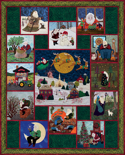 "Piecemakers 2012 Calendar Quilt — ""Here Comes Santa Claus"" MAIN"