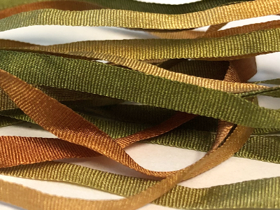 Colour Streams 4mm Silk Ribbon — Tuscan Olive MAIN