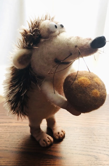 Polymer Clay and Needle Felted Hedgehog MAIN