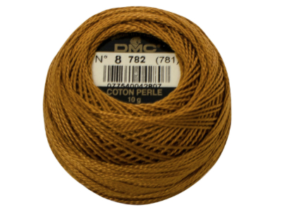 DMC #8 Perle Cotton Ball – Col. 782 Caramel MAIN