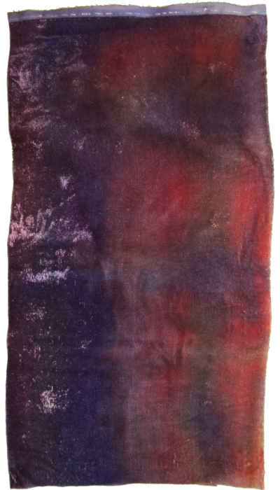 Hand Dyed Silk/Rayon Velvet—Purple Sunset MAIN
