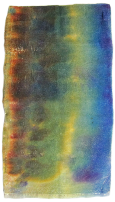 Hand Dyed Silk/Rayon Velvet—Earth and Sky MAIN
