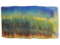 Hand Dyed Silk/Rayon Velvet—Earth and Sky THUMBNAIL