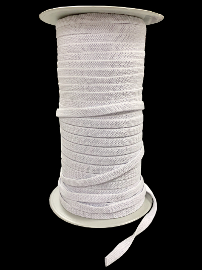 "1/4"" Elastic - White MAIN"
